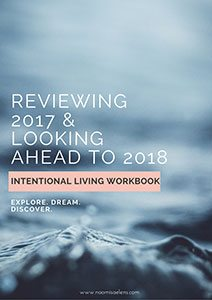 Intentional Living Workbook by Naomi Saelens Coaching