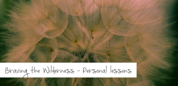 Braving the Wilderness - Personal lessons